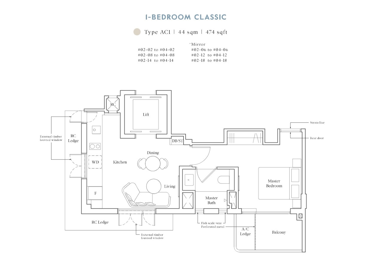 Heritage collection - 1 Bedroom Classic, AC1