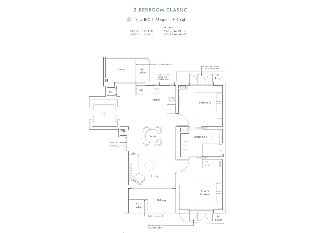 Heritage Collection - 2 Bedroom Classic, BC1