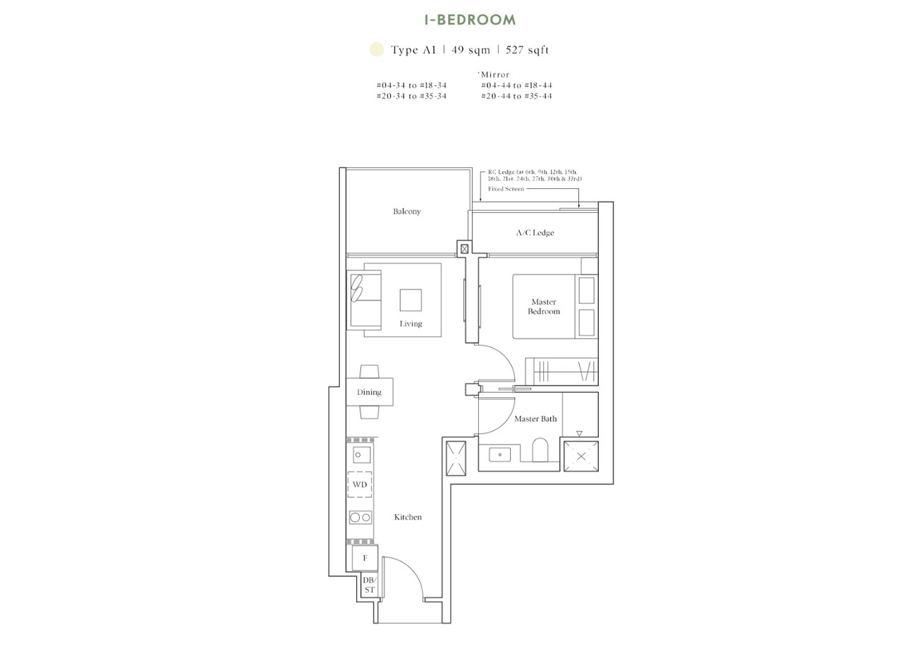 Horizon Collection - 1 Bedroom, A1