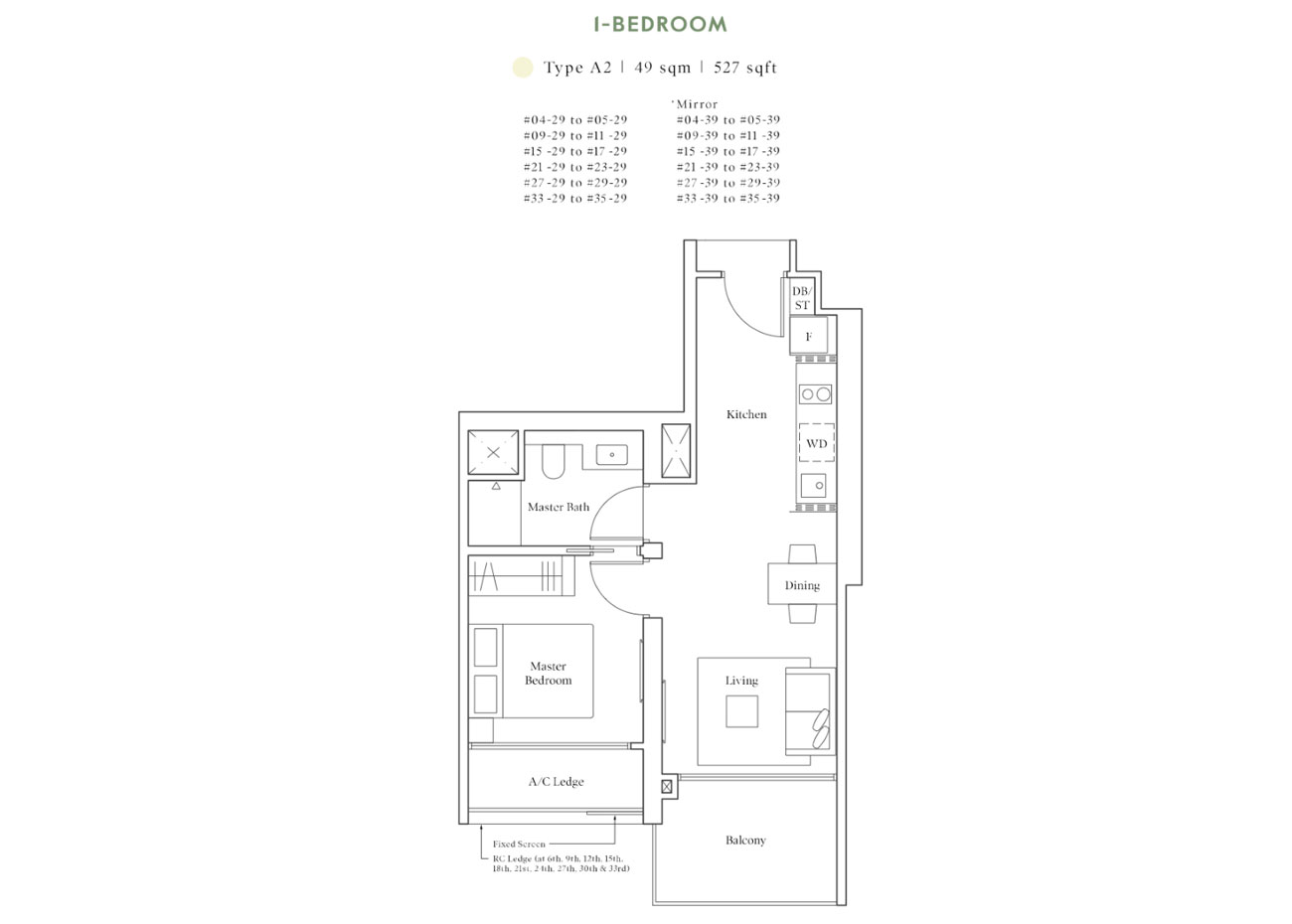 Horizon Collection - 1 Bedroom, A2