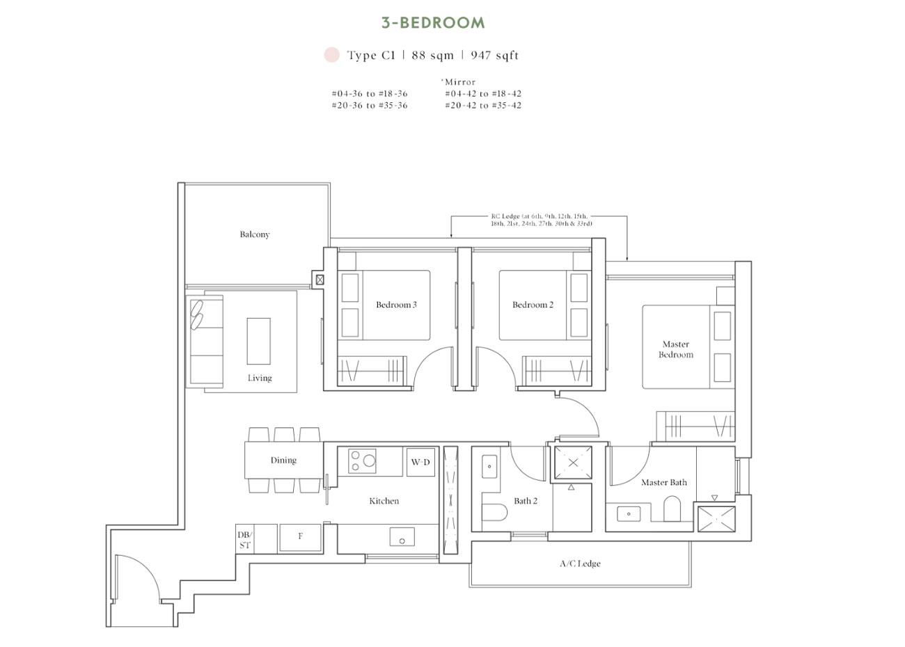 Horizon Collection - 3 Bedroom, C1