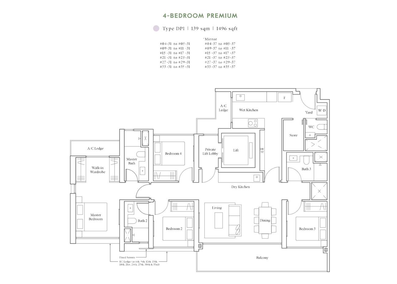Horizon Collection - 4 Bedroom Premium, DP1