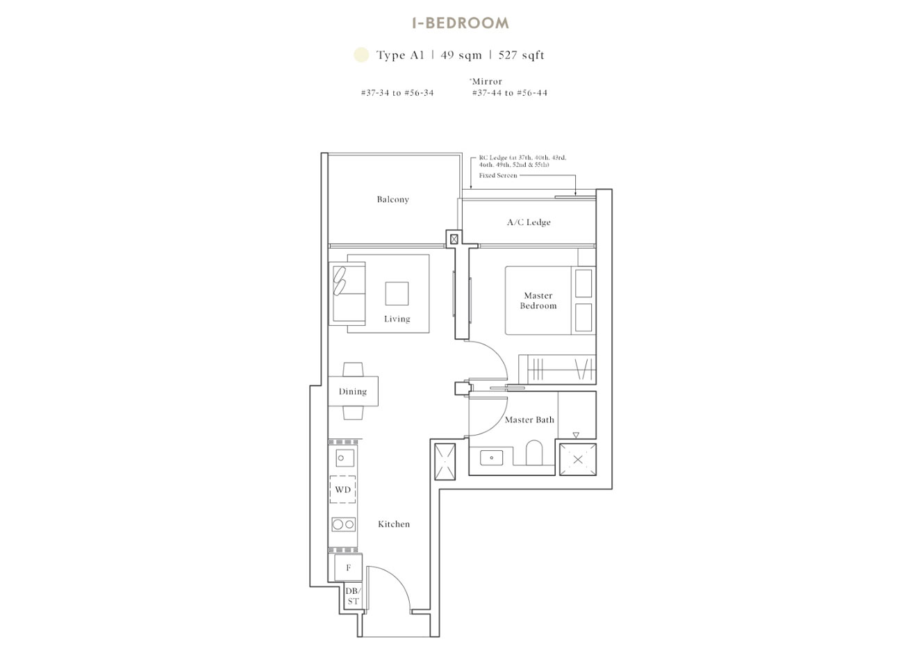 Peak Collection - 1 Bedroom, A1