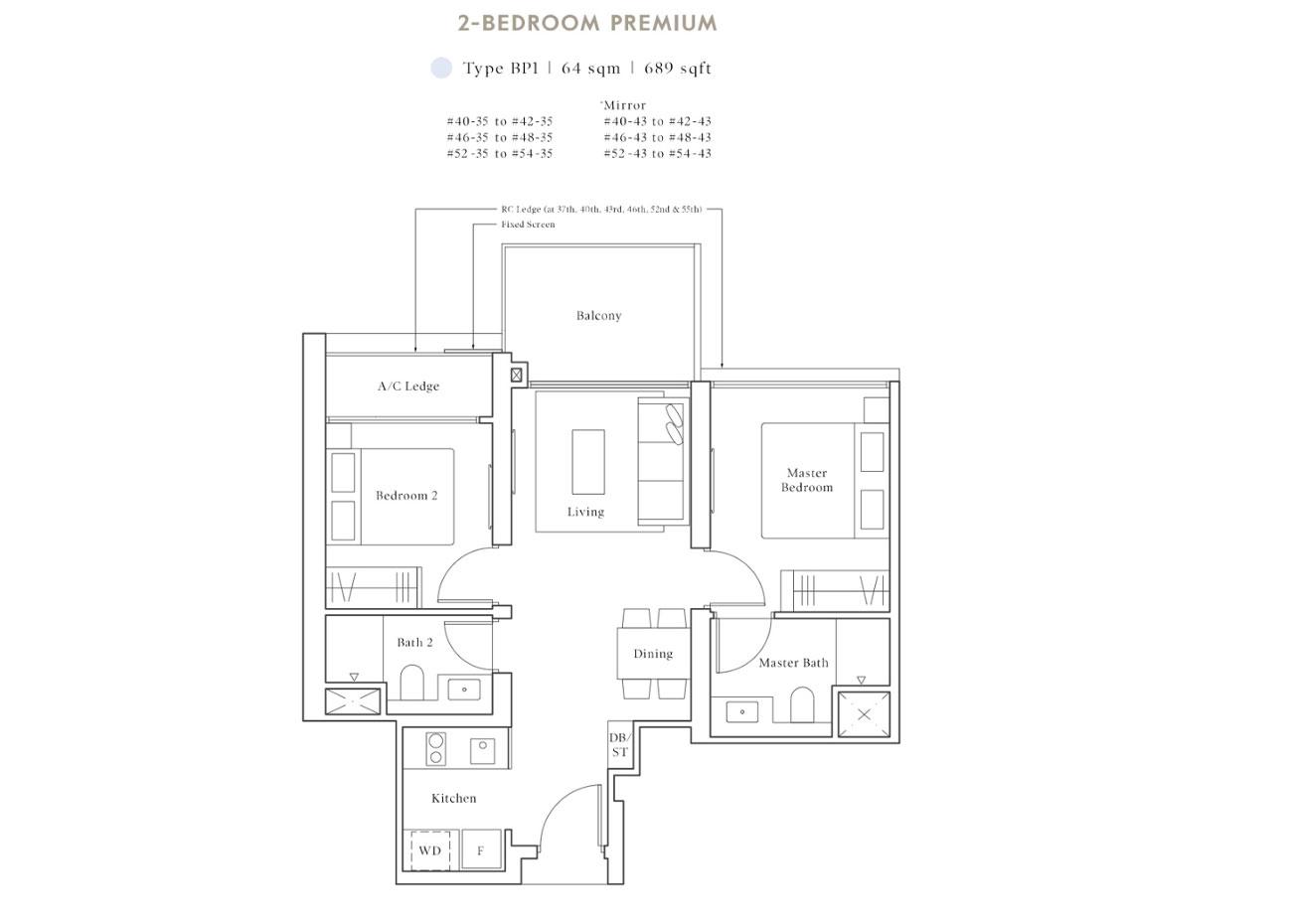 Peak Collection - 2 Bedroom Premium, BP1
