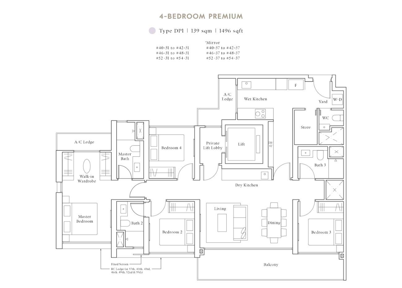 Peak Collection - 4 Bedroom Premium, DP1
