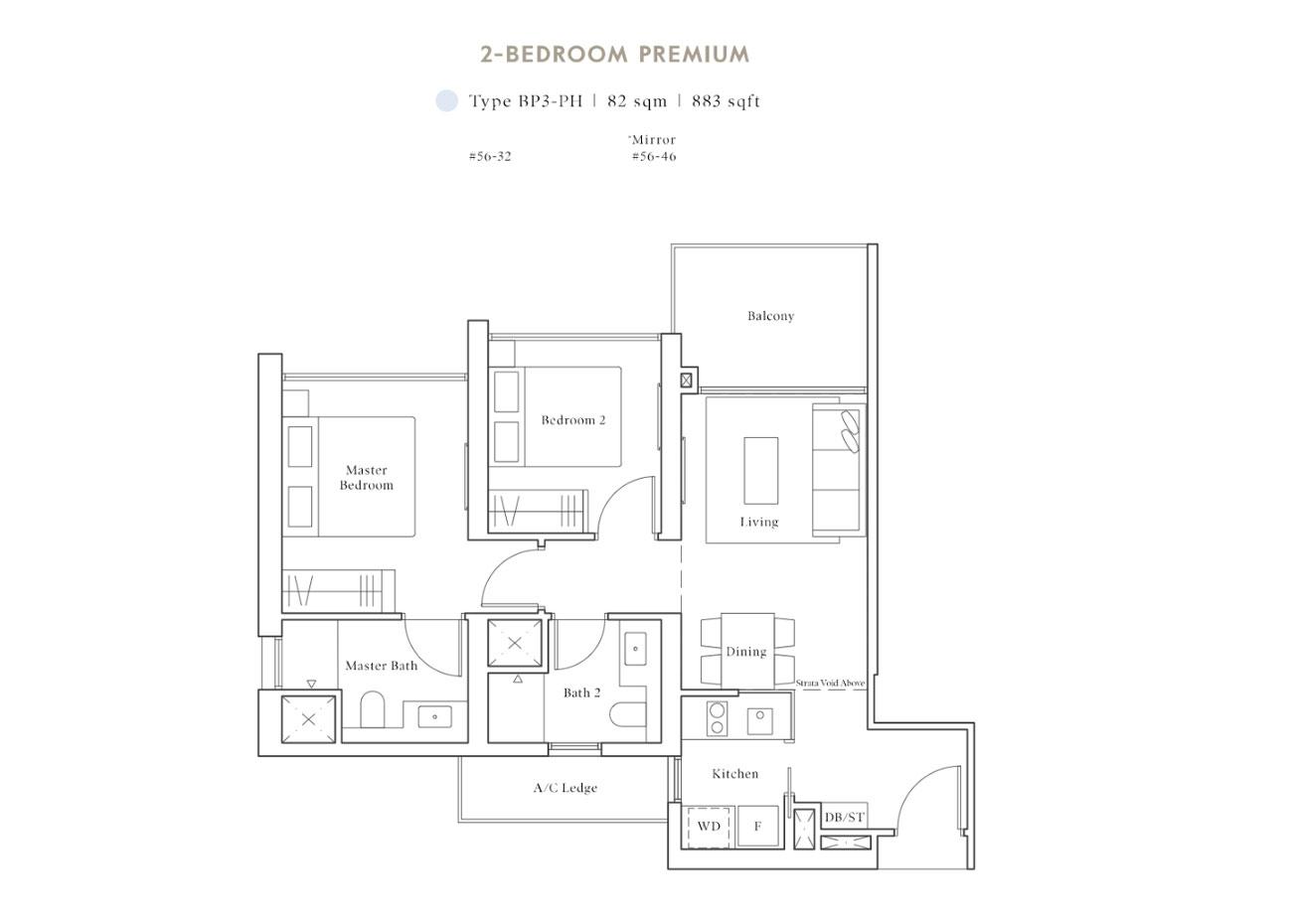 Peak PH Collection - 2 Bedroom Premium, BP3-PH