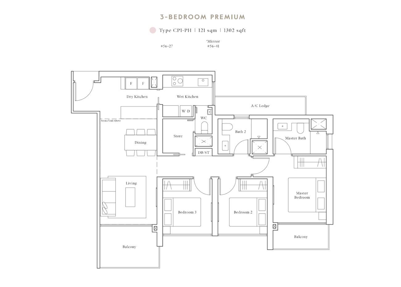 Peak PH Collection - 3 Bedroom Premium, CP1-PH